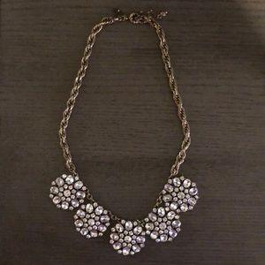 LOFT Gold and rhinestone statement necklace